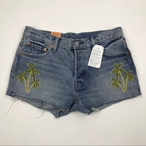 NWT Levi's 501 Wild Dreaming Re/Done Shorts Sz 29